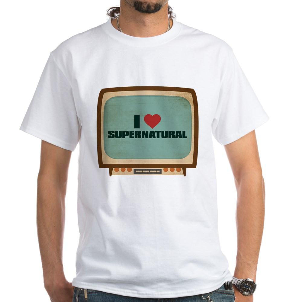 Retro I Heart Supernatural White T-Shirt