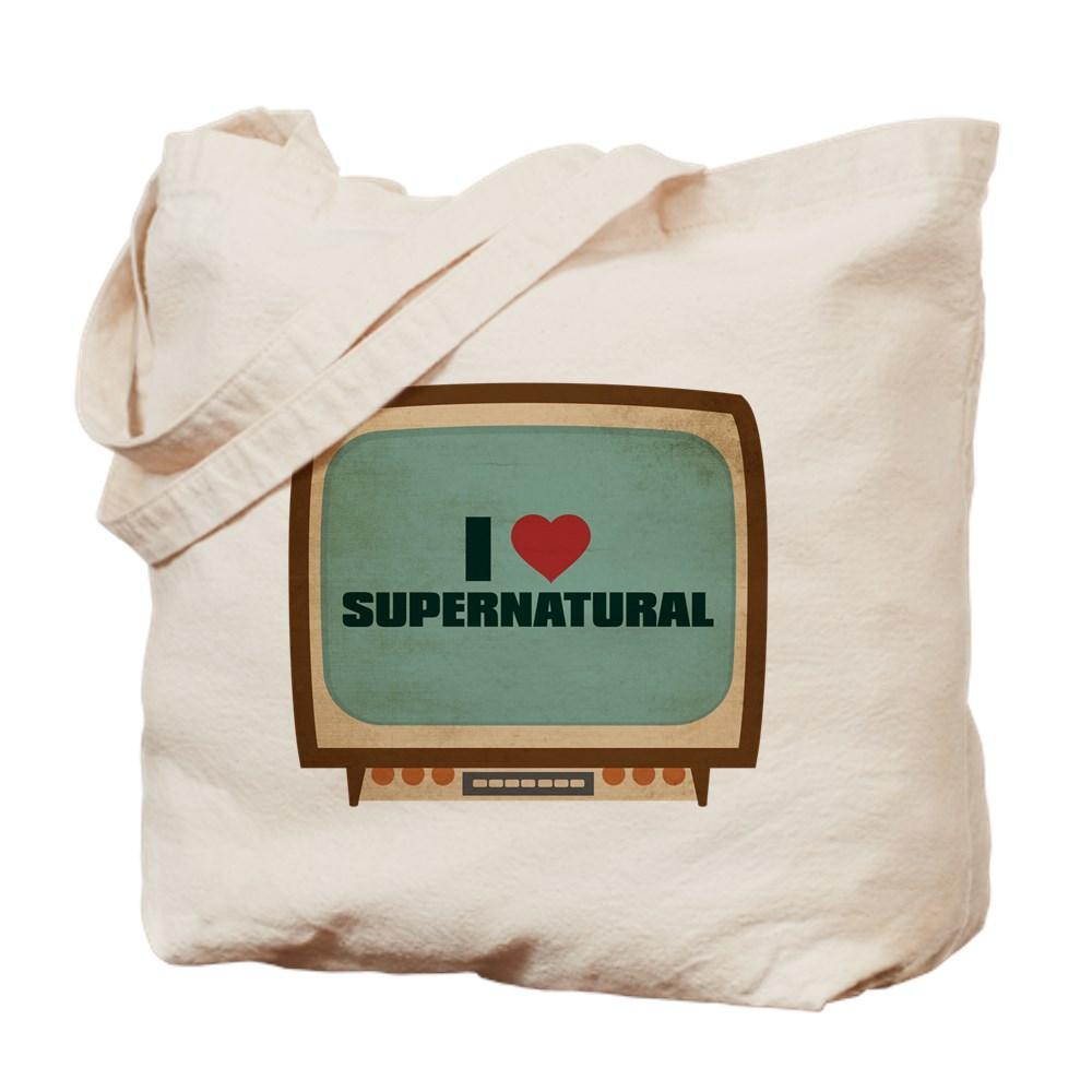 Retro I Heart Supernatural Tote Bag