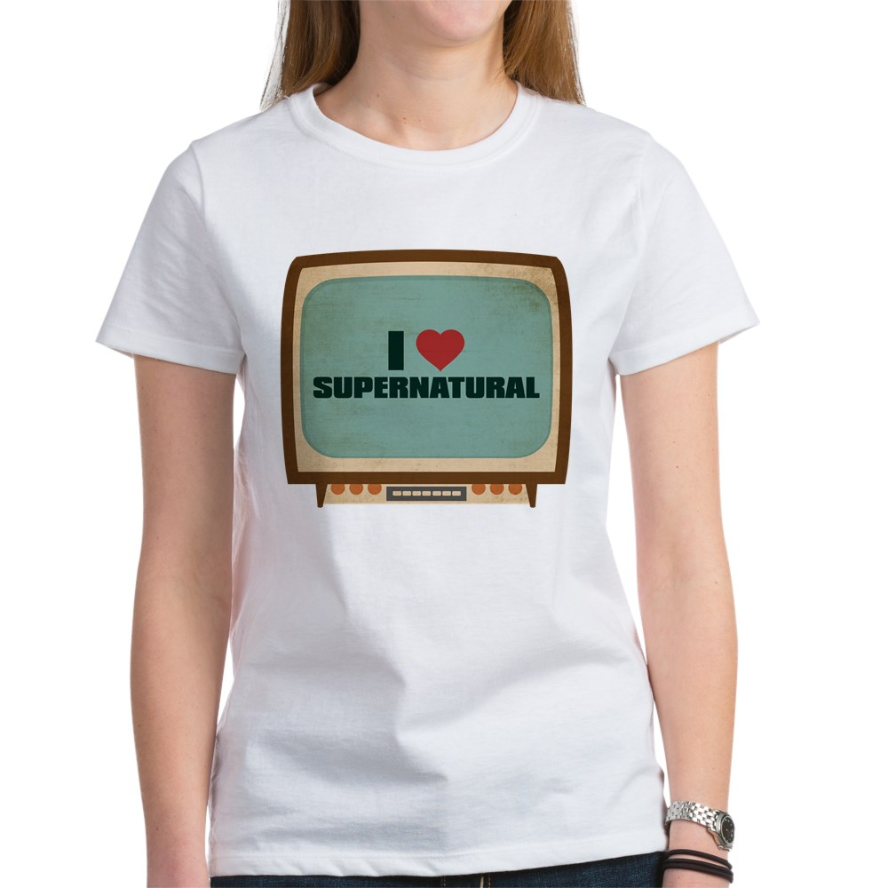 Retro I Heart Supernatural Women's T-Shirt