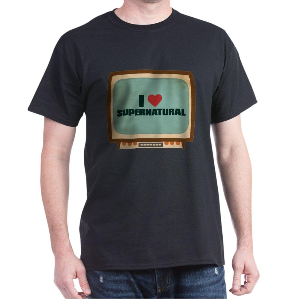 Retro I Heart Supernatural Dark T-Shirt