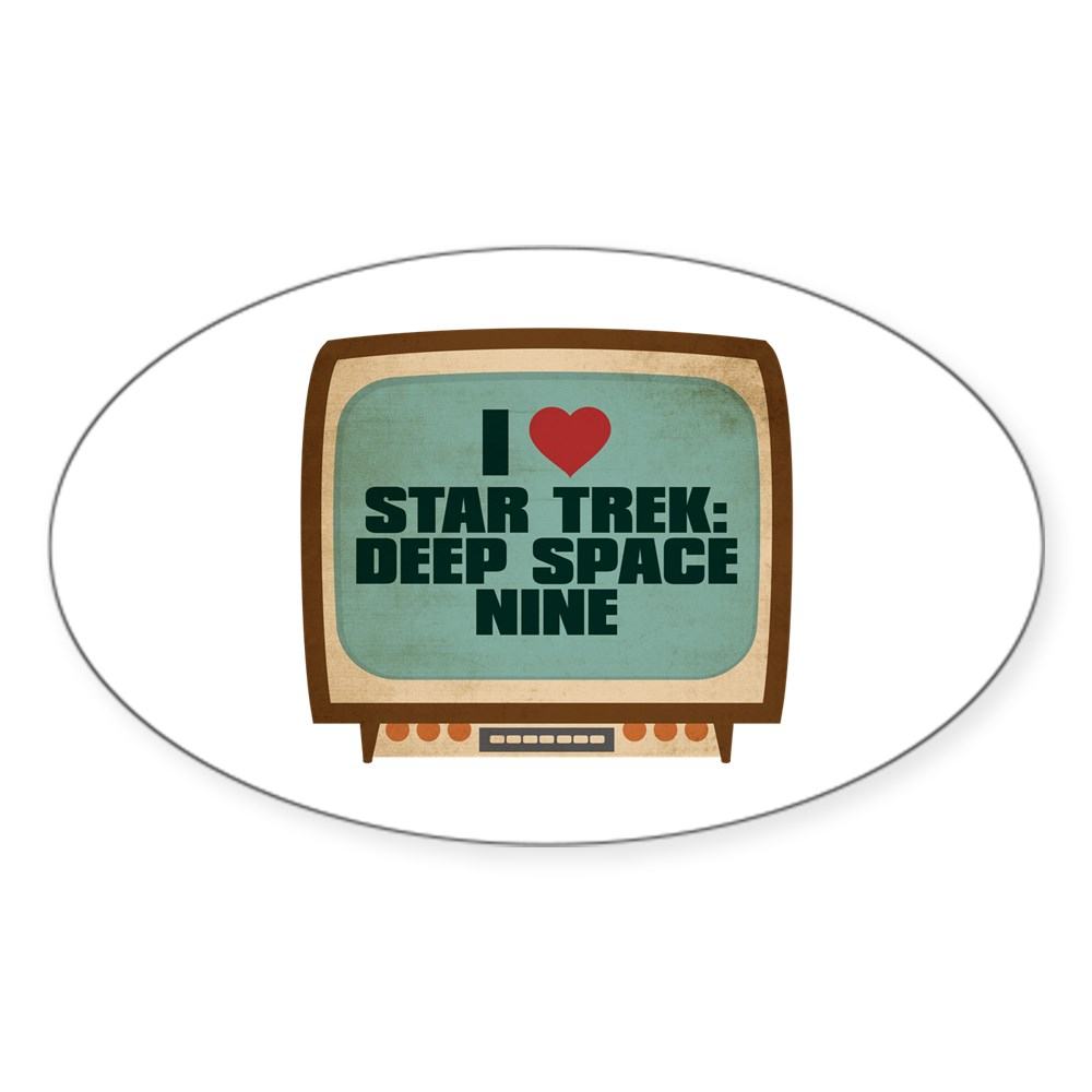 Retro I Heart Star Trek: Deep Space Nine Oval Sticker