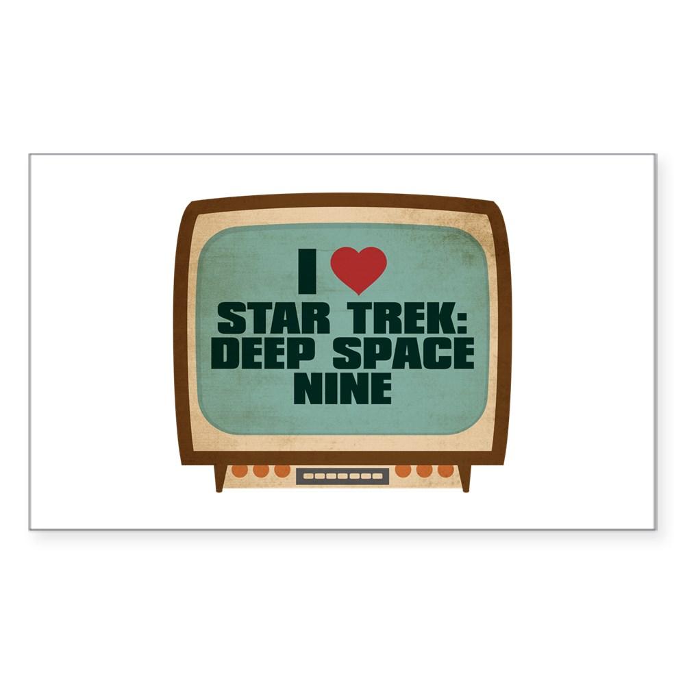 Retro I Heart Star Trek: Deep Space Nine Rectangle Sticker
