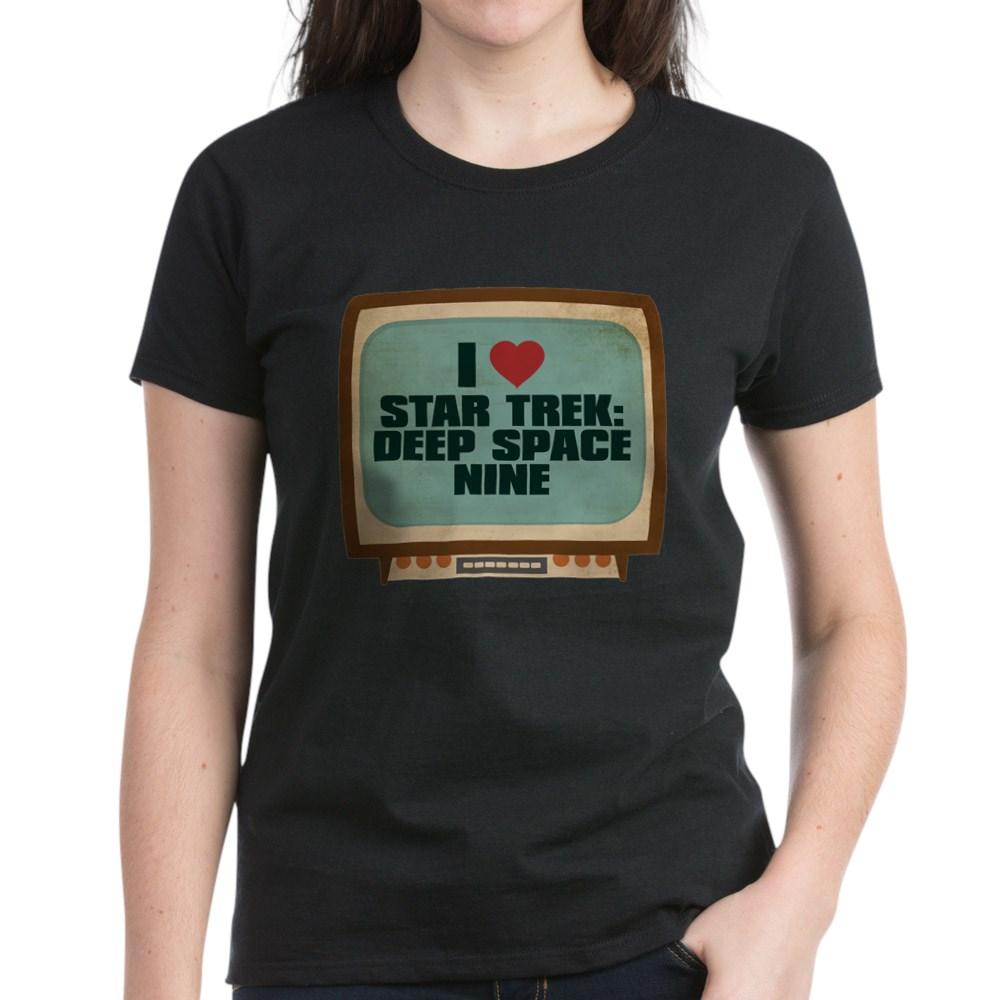 Retro I Heart Star Trek: Deep Space Nine Women's Dark T-Shirt