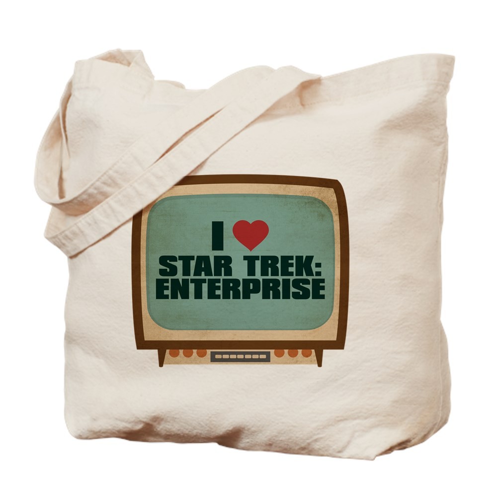 Retro I Heart Star Trek: Enterprise Tote Bag