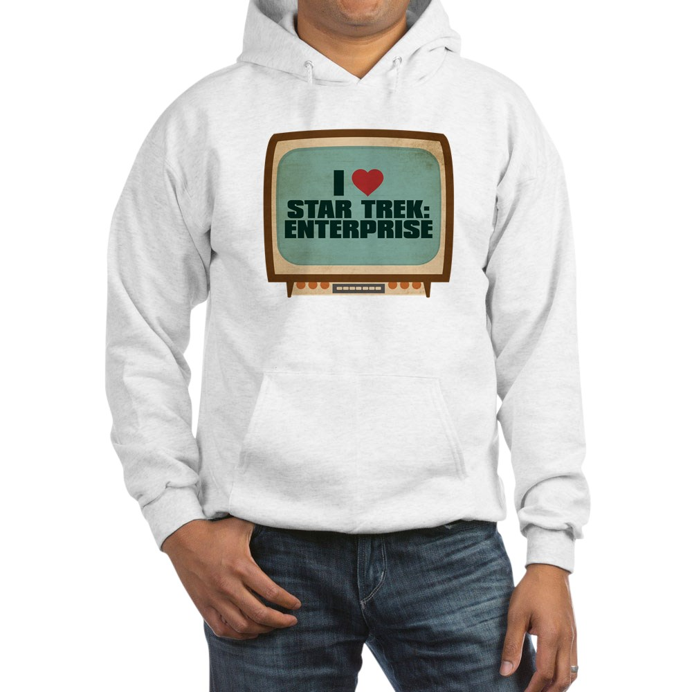Retro I Heart Star Trek: Enterprise Hooded Sweatshirt