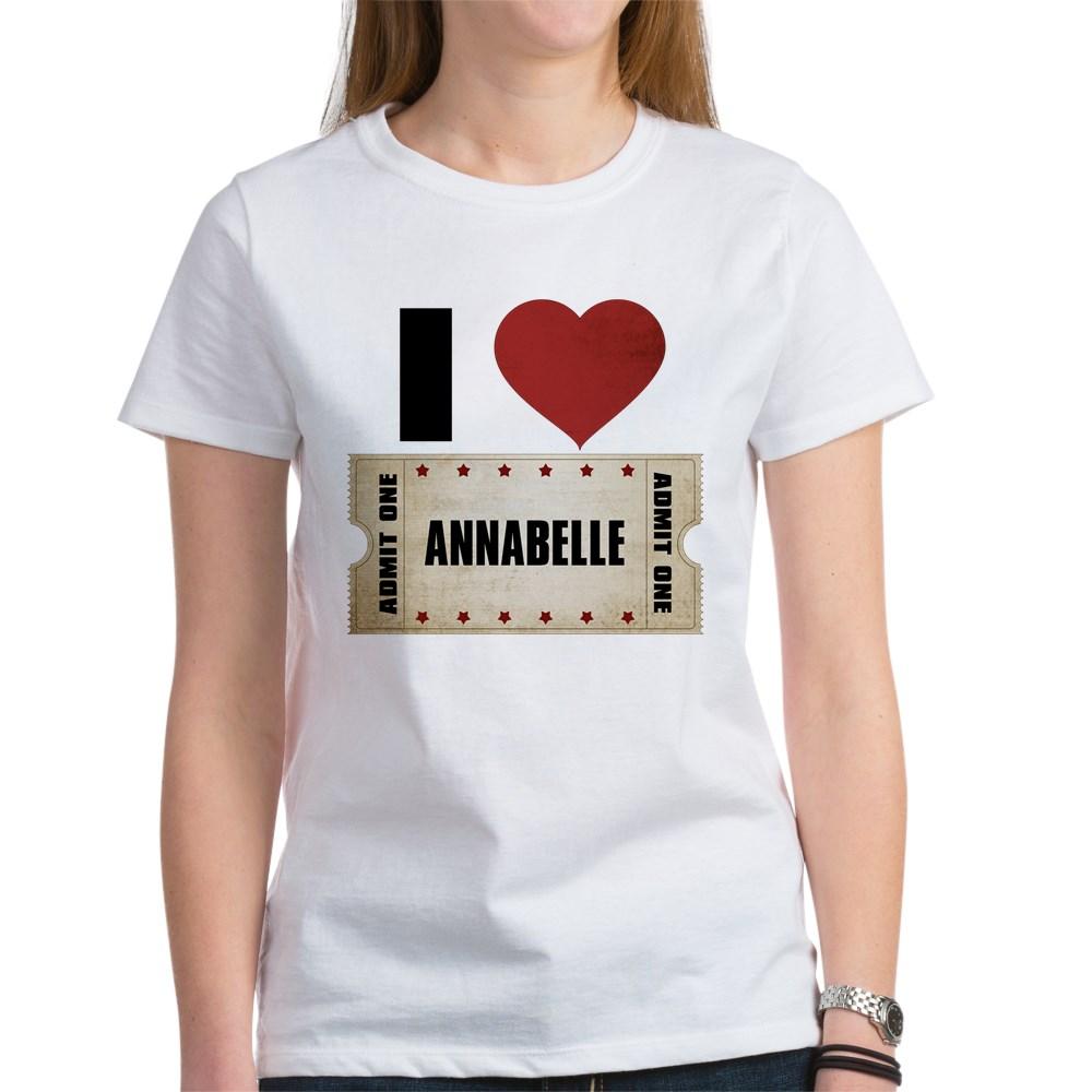 I Heart Annabelle Ticket Women's T-Shirt