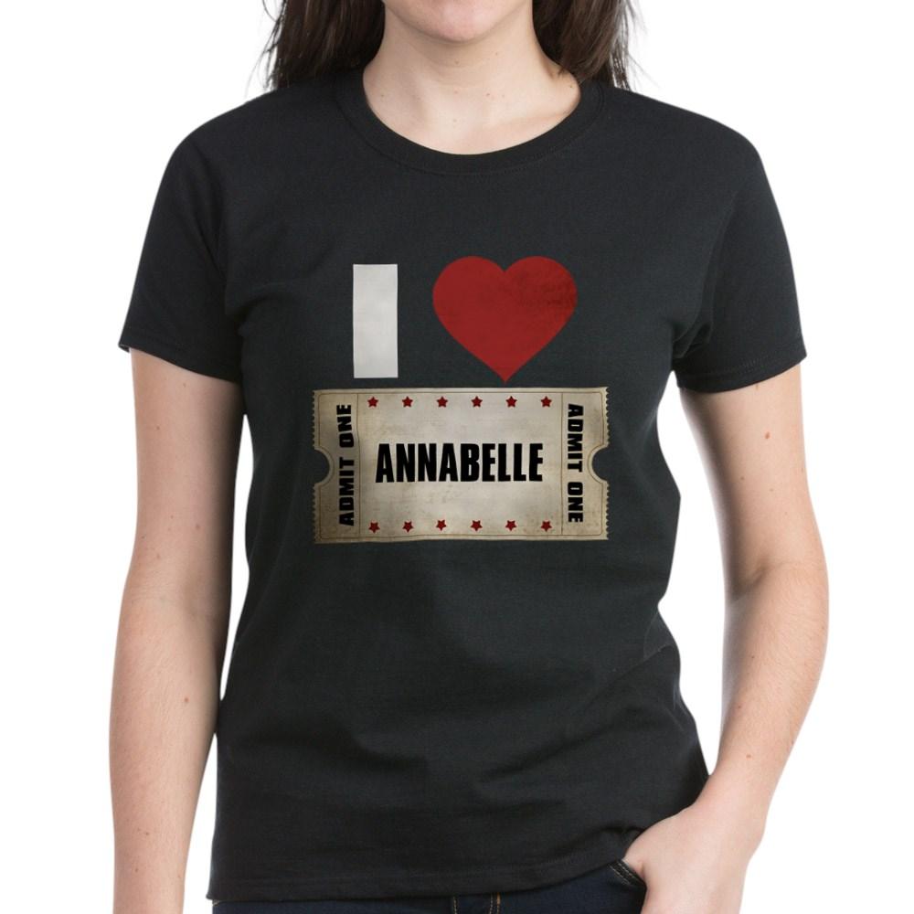 I Heart Annabelle Ticket Women's Dark T-Shirt