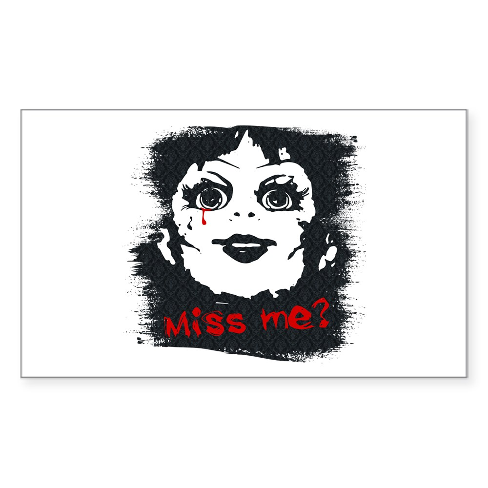 Annabelle - Miss Me? Rectangle Sticker