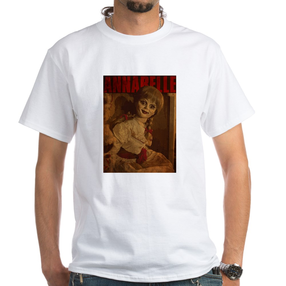 Vintage Style Annabelle Poster White T-Shirt