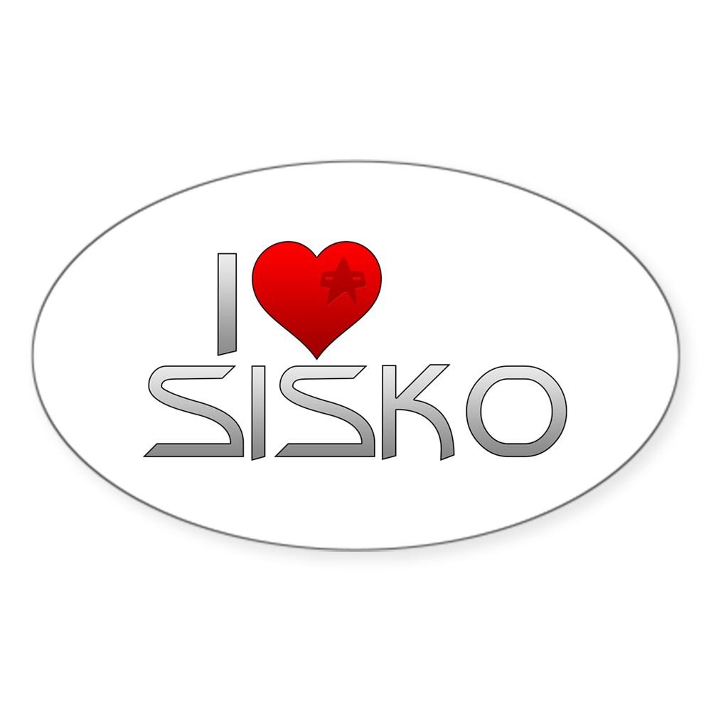 I Heart Sisko Oval Sticker