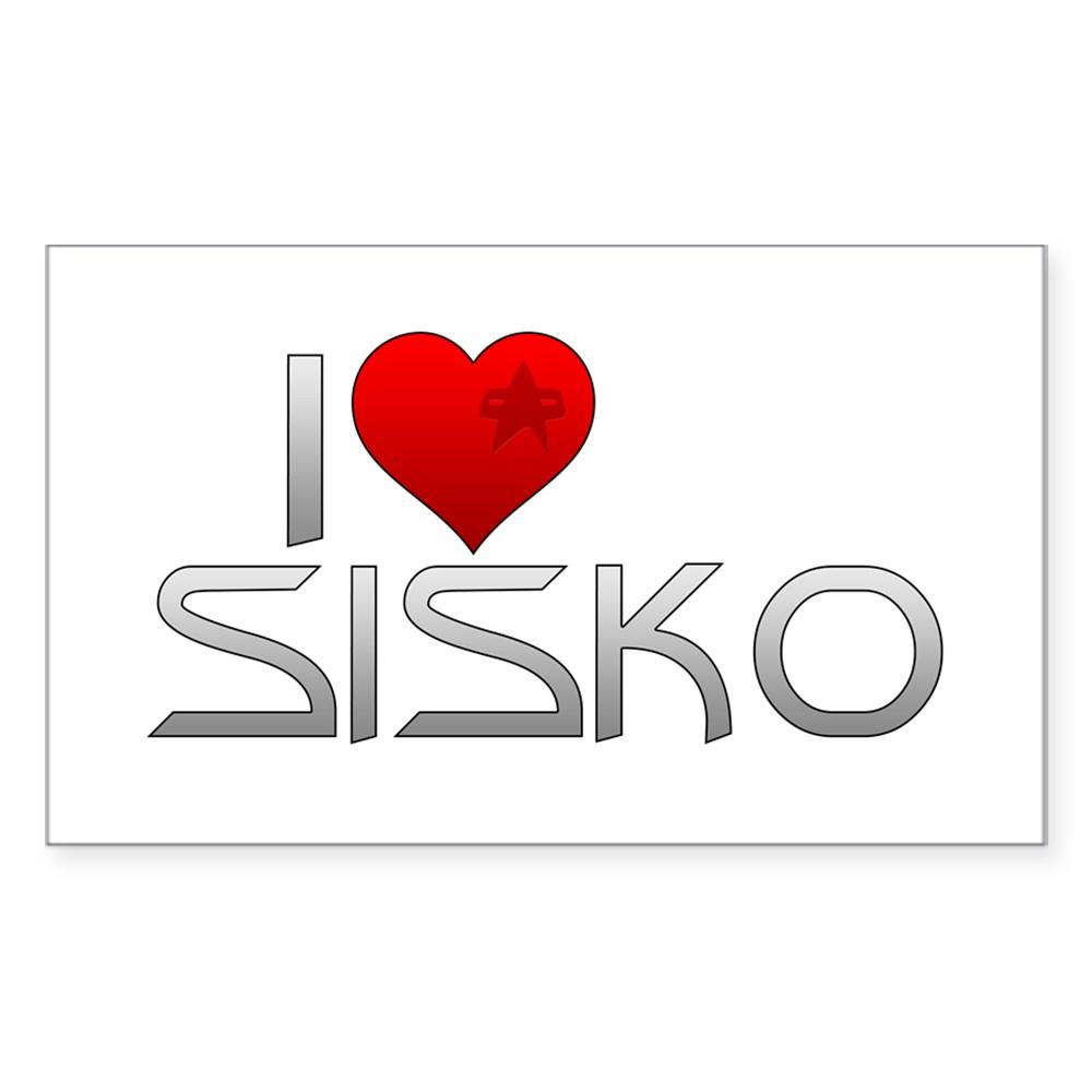 I Heart Sisko Rectangle Sticker