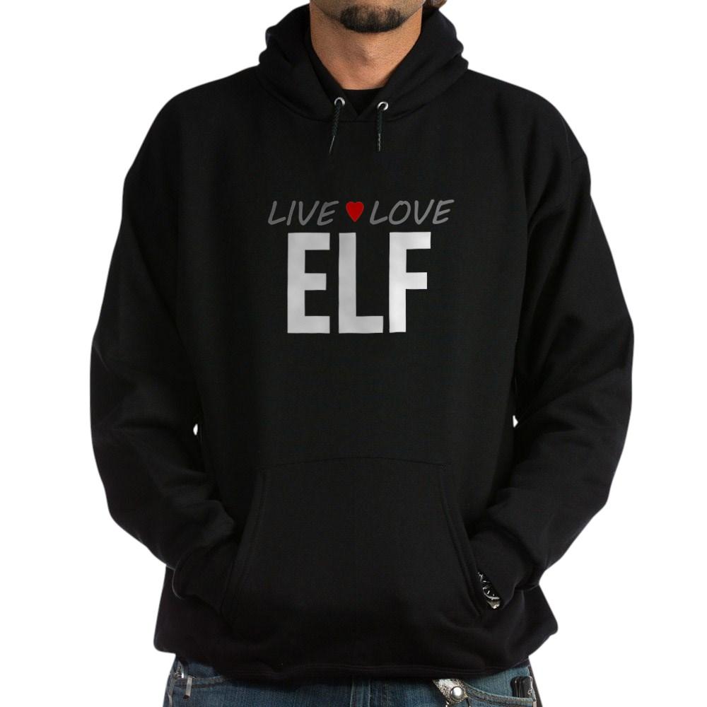 Live Love Elf Dark Hoodie