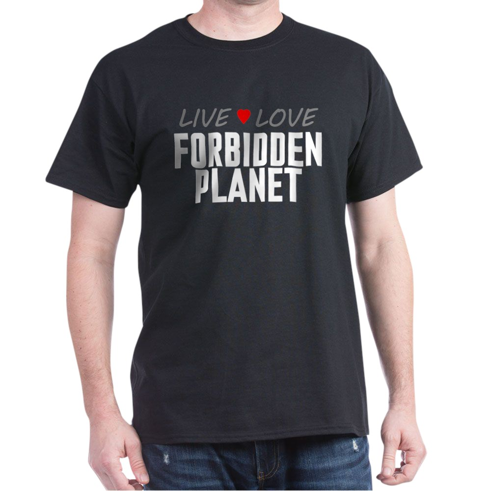 Live Love Forbidden Planet Dark T-Shirt