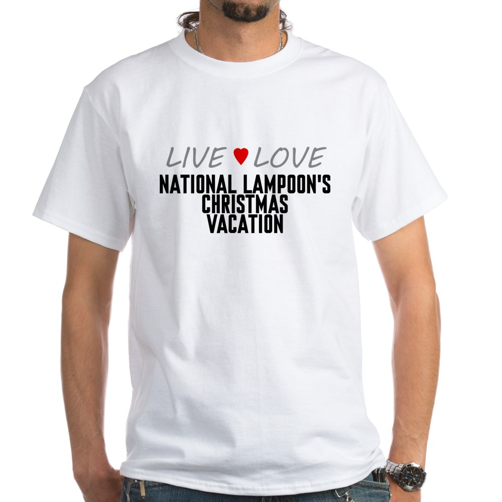 Live Love National Lampoon's Christmas Vacation White T-Shirt