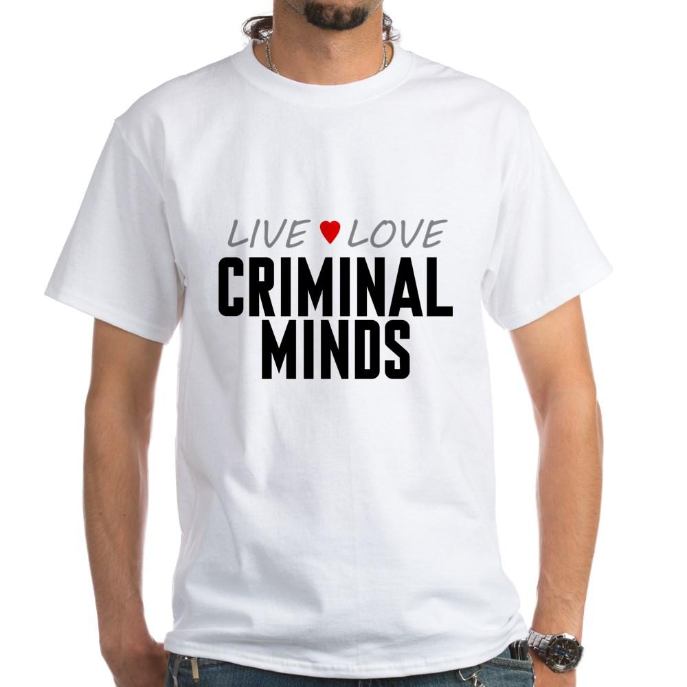 Live Love Criminal Minds White T-Shirt