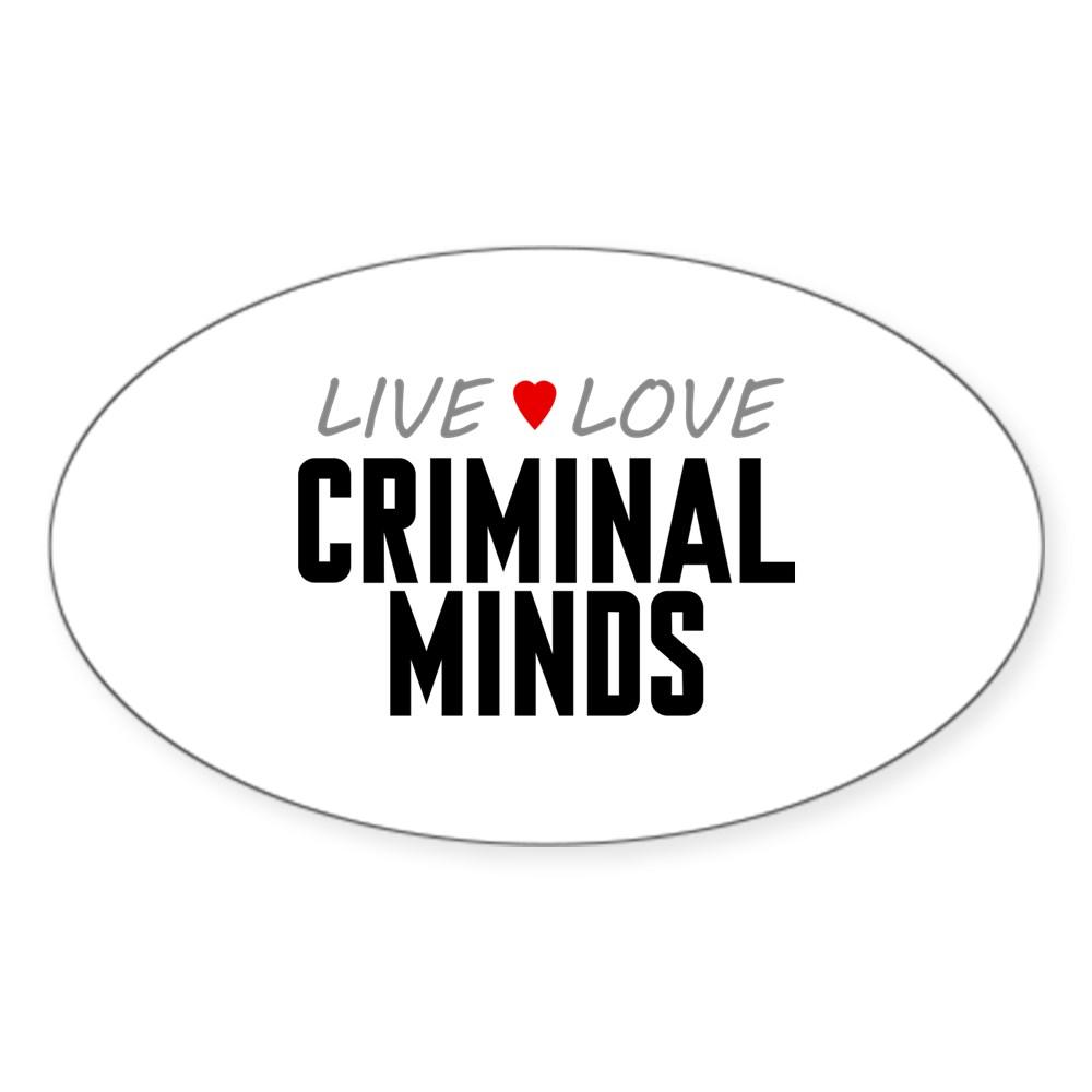 Live Love Criminal Minds Oval Sticker