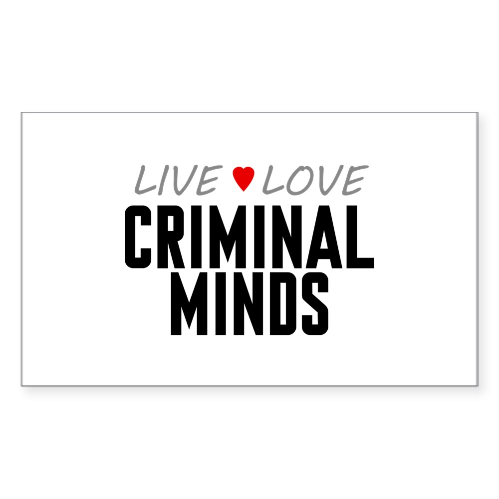 Live Love Criminal Minds Rectangle Sticker