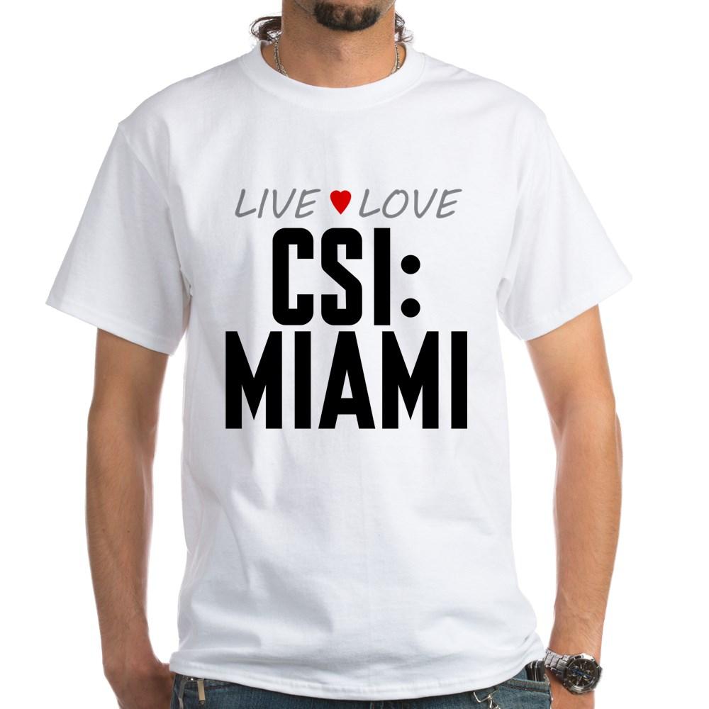 Live Love CSI: Miami White T-Shirt