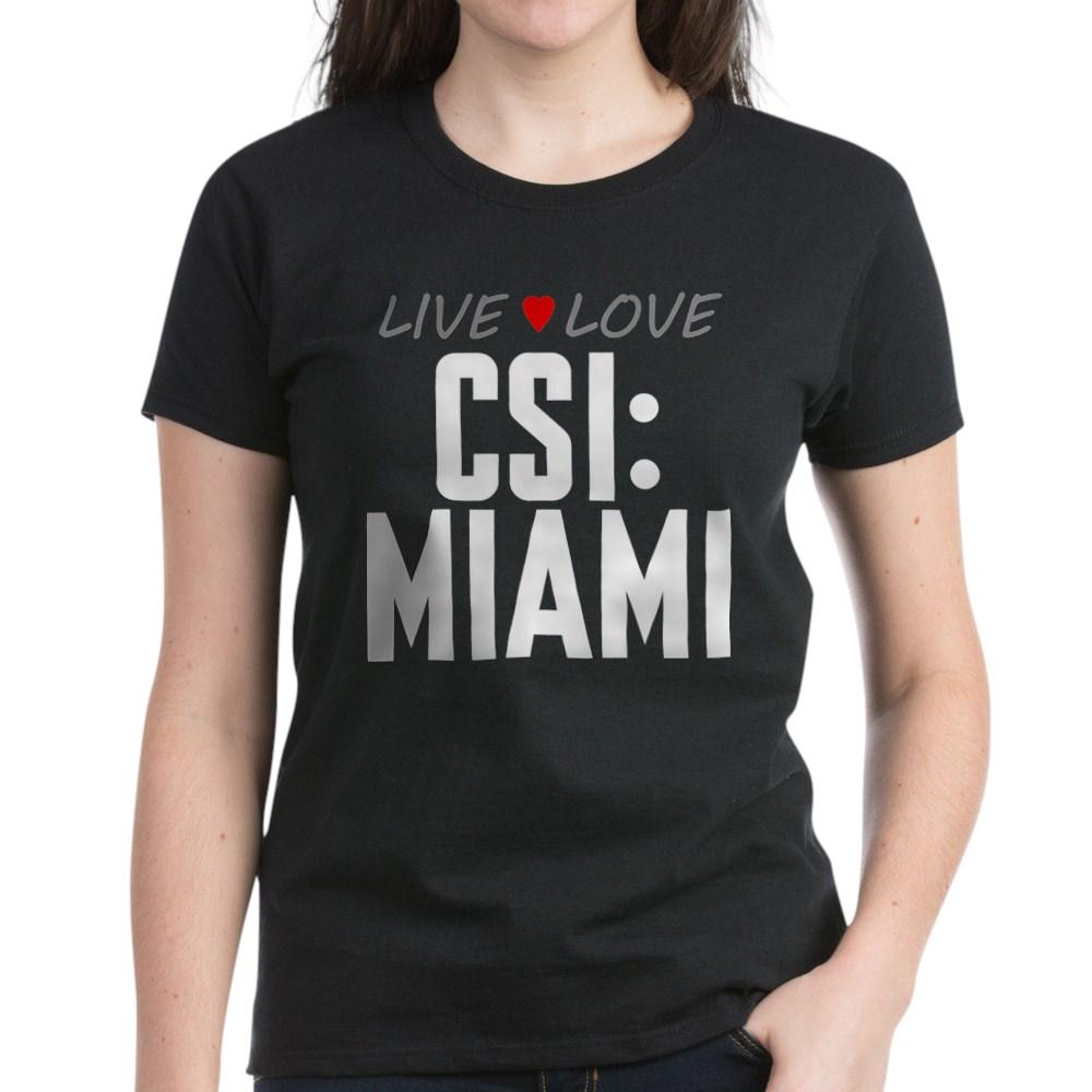Live Love CSI: Miami Women's Dark T-Shirt