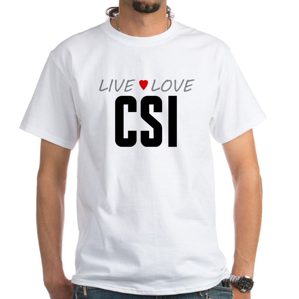Live Love CSI White T-Shirt
