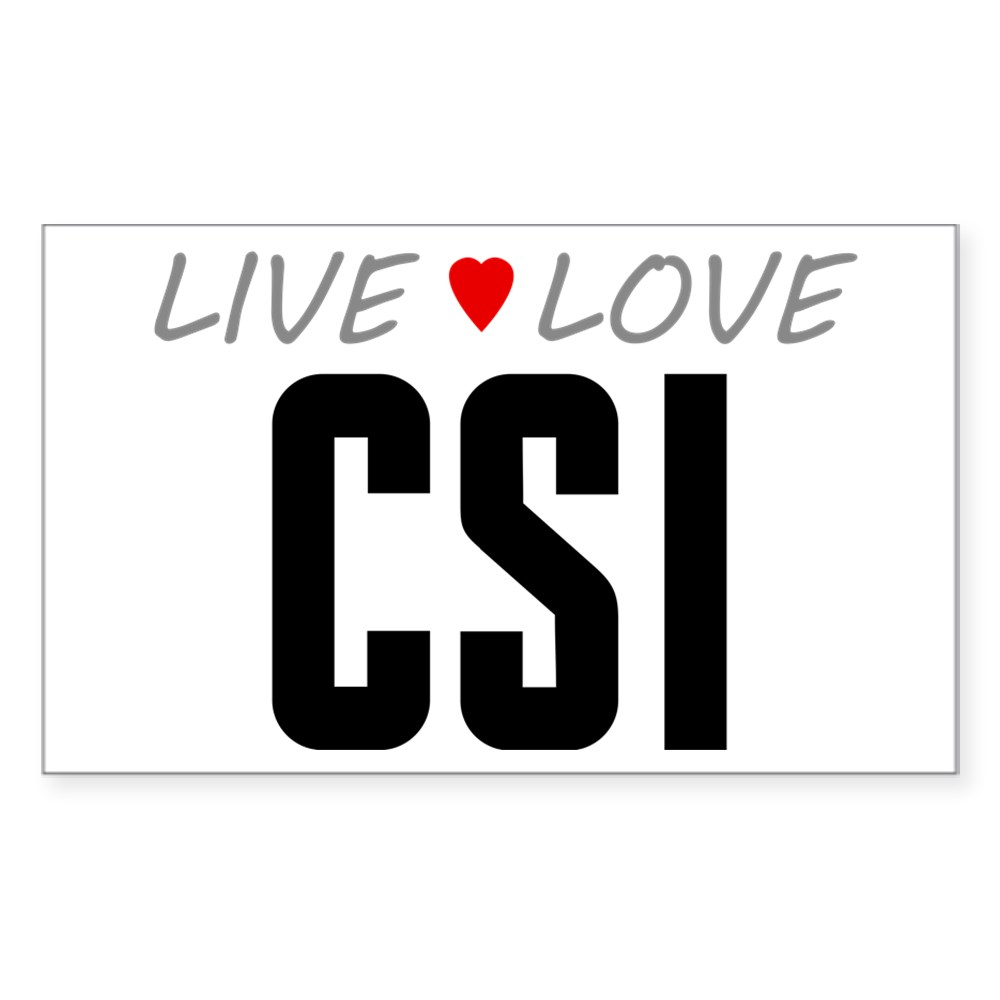 Live Love CSI Rectangle Sticker