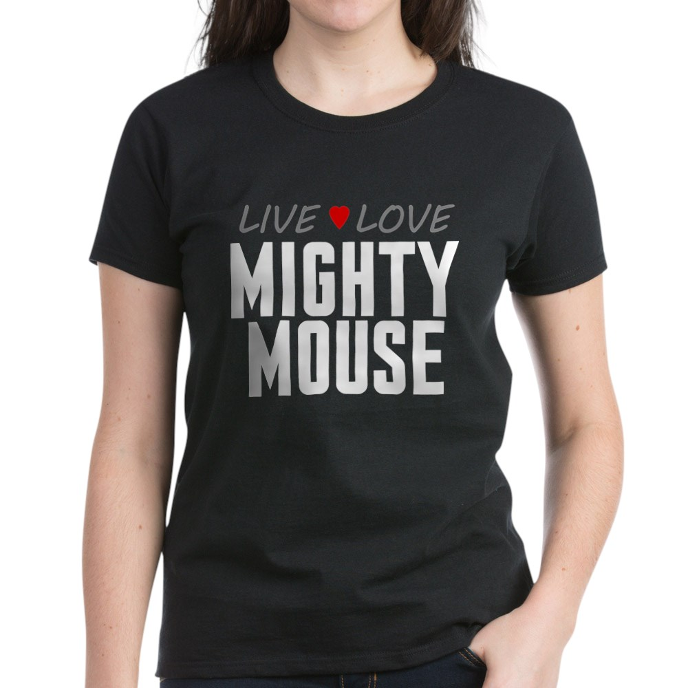 Live Love Mighty Mouse Women's Dark T-Shirt