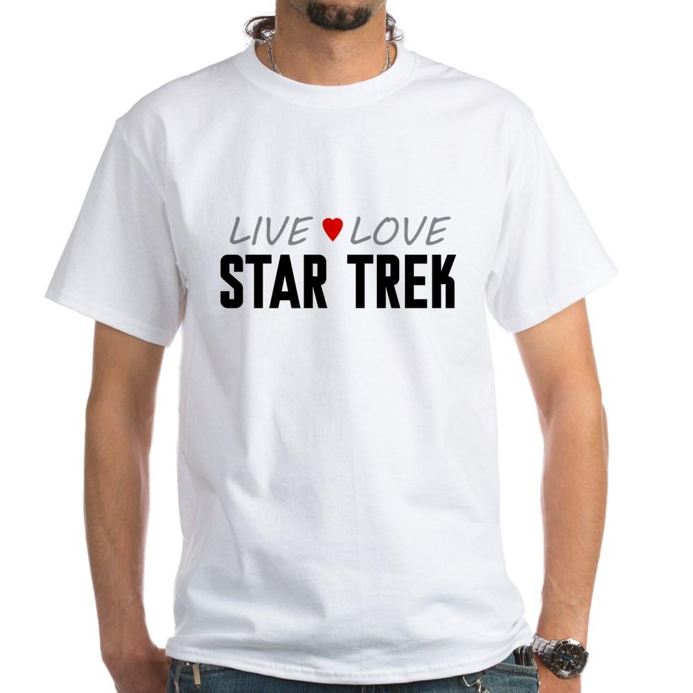 Live Love Star Trek White T-Shirt