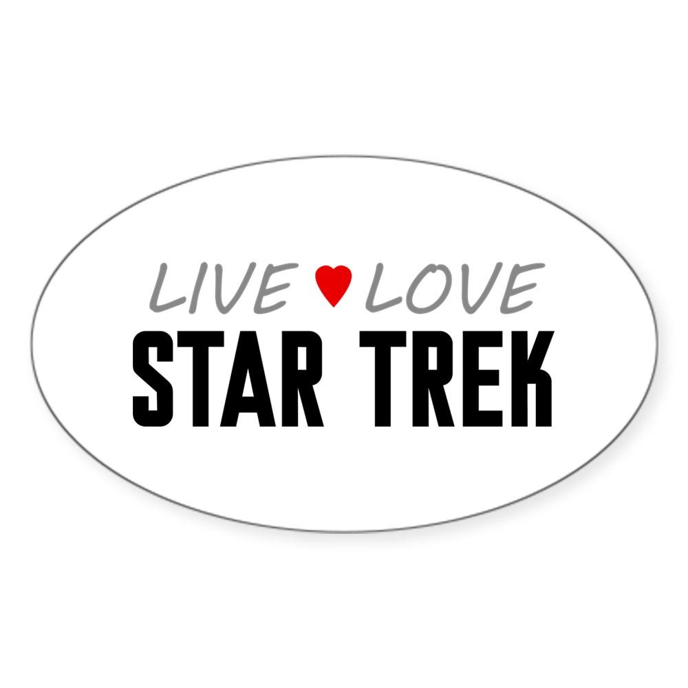 Live Love Star Trek Oval Sticker