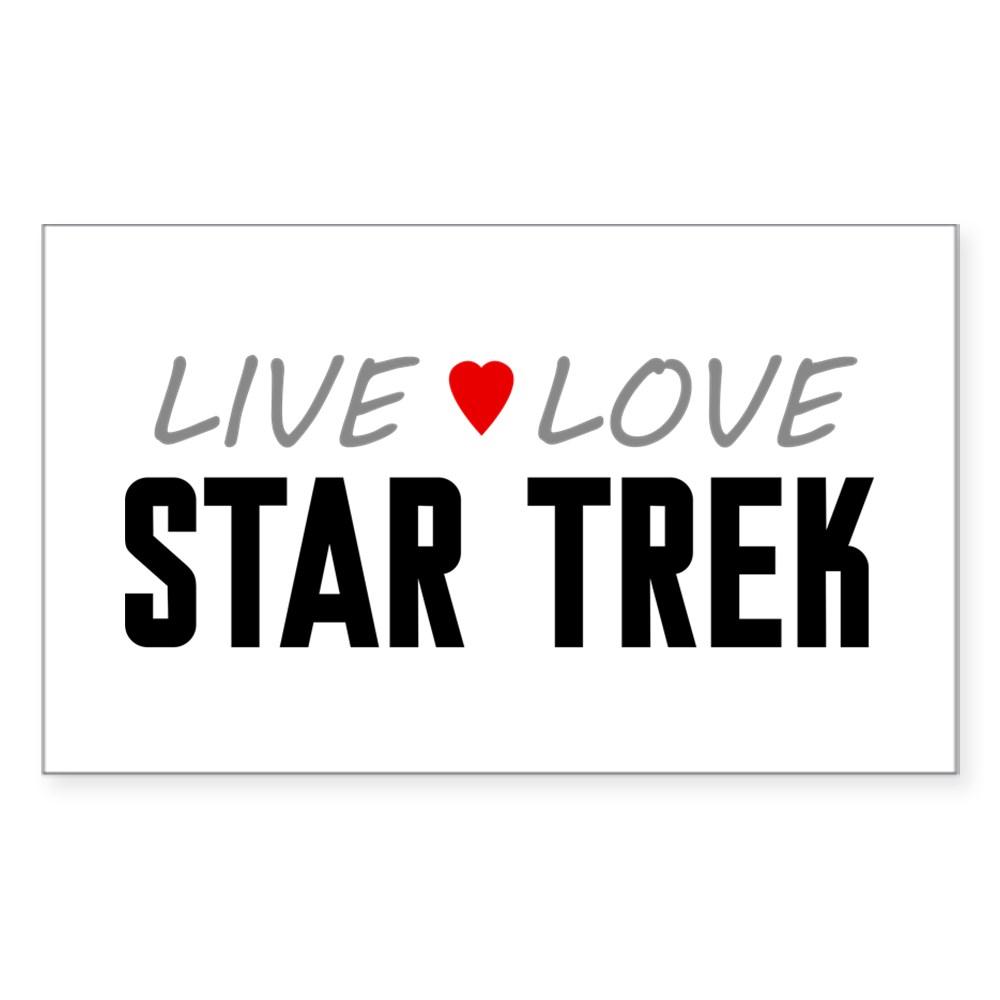 Live Love Star Trek Rectangle Sticker