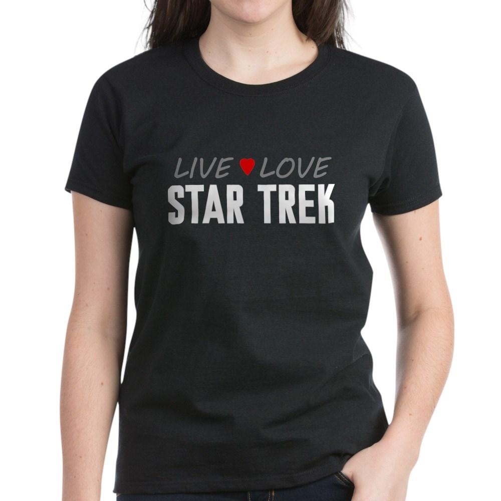 Live Love Star Trek Women's Dark T-Shirt