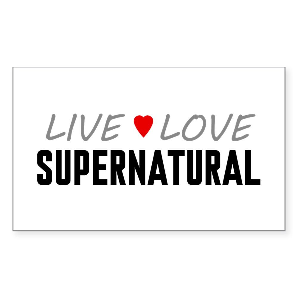 Live Love Supernatural Rectangle Sticker