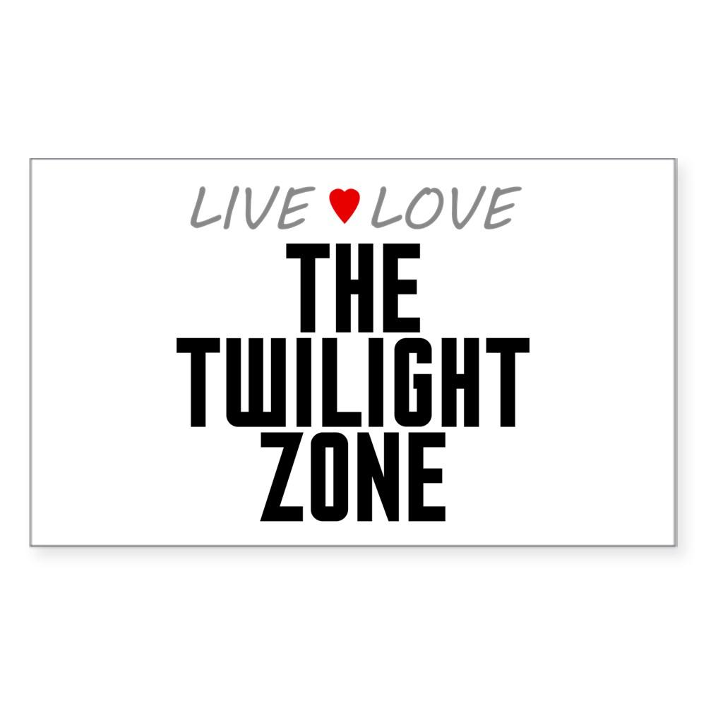 Live Love The Twilight Zone Rectangle Sticker