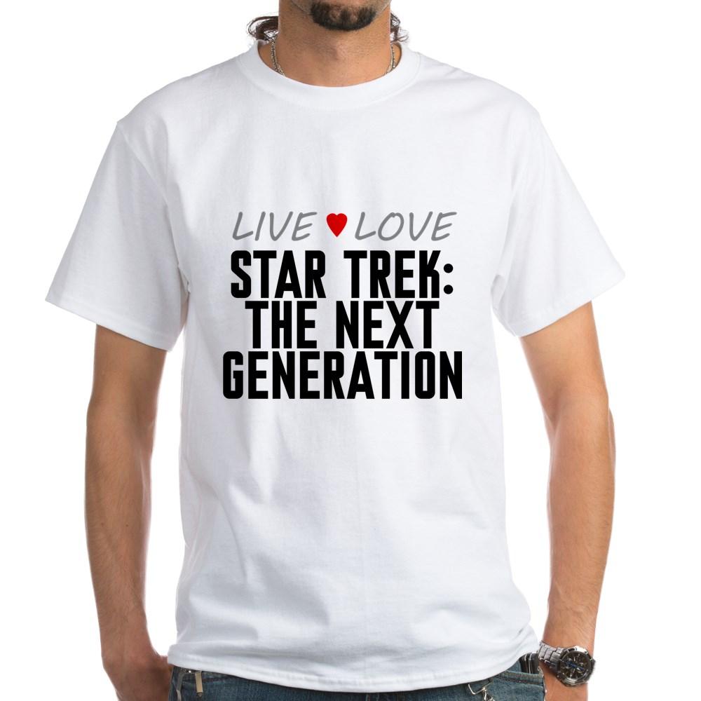 Live Love Star Trek: The Next Generation White T-Shirt