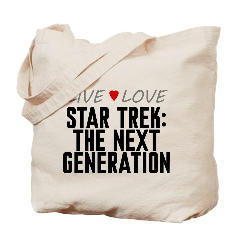 Live Love Star Trek: The Next Generation Tote Bag