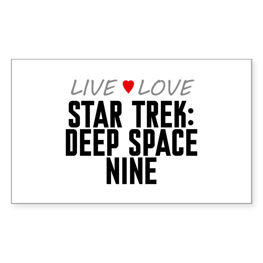 Live Love Star Trek: Deep Space Nine Rectangle Sticker