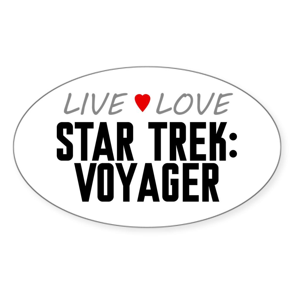 Live Love Star Trek: Voyager Oval Sticker