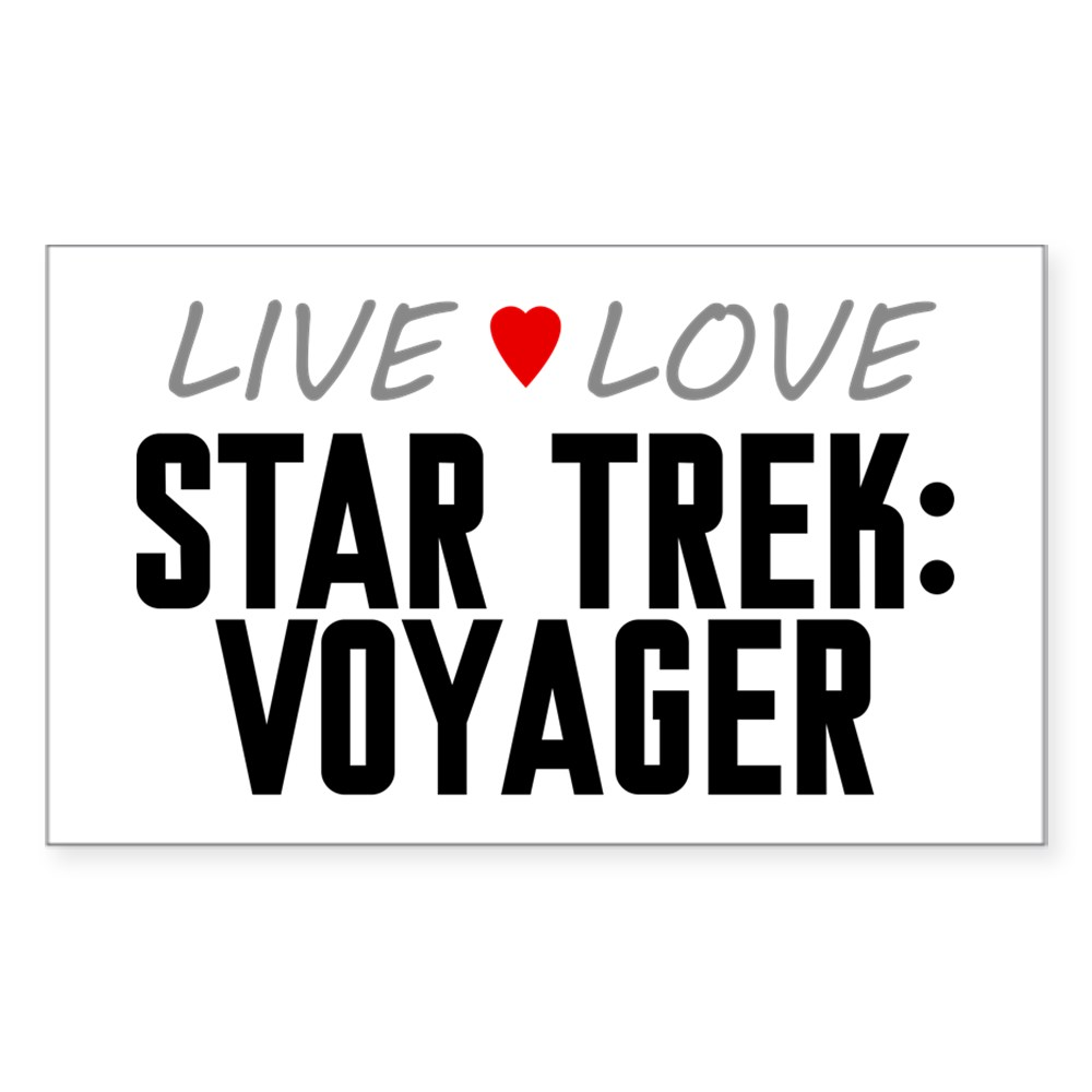 Live Love Star Trek: Voyager Rectangle Sticker