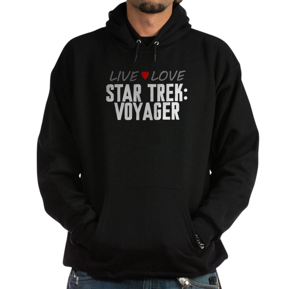 Live Love Star Trek: Voyager Dark Hoodie