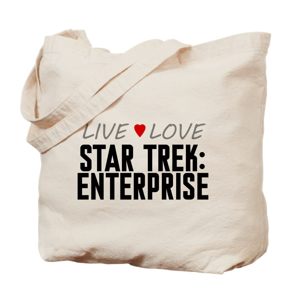 Live Love Star Trek: Enterprise Tote Bag