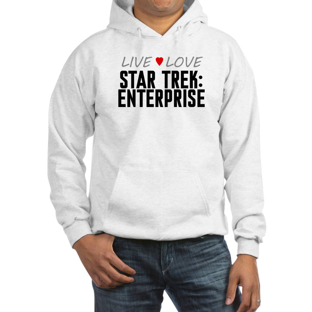 Live Love Star Trek: Enterprise Hooded Sweatshirt
