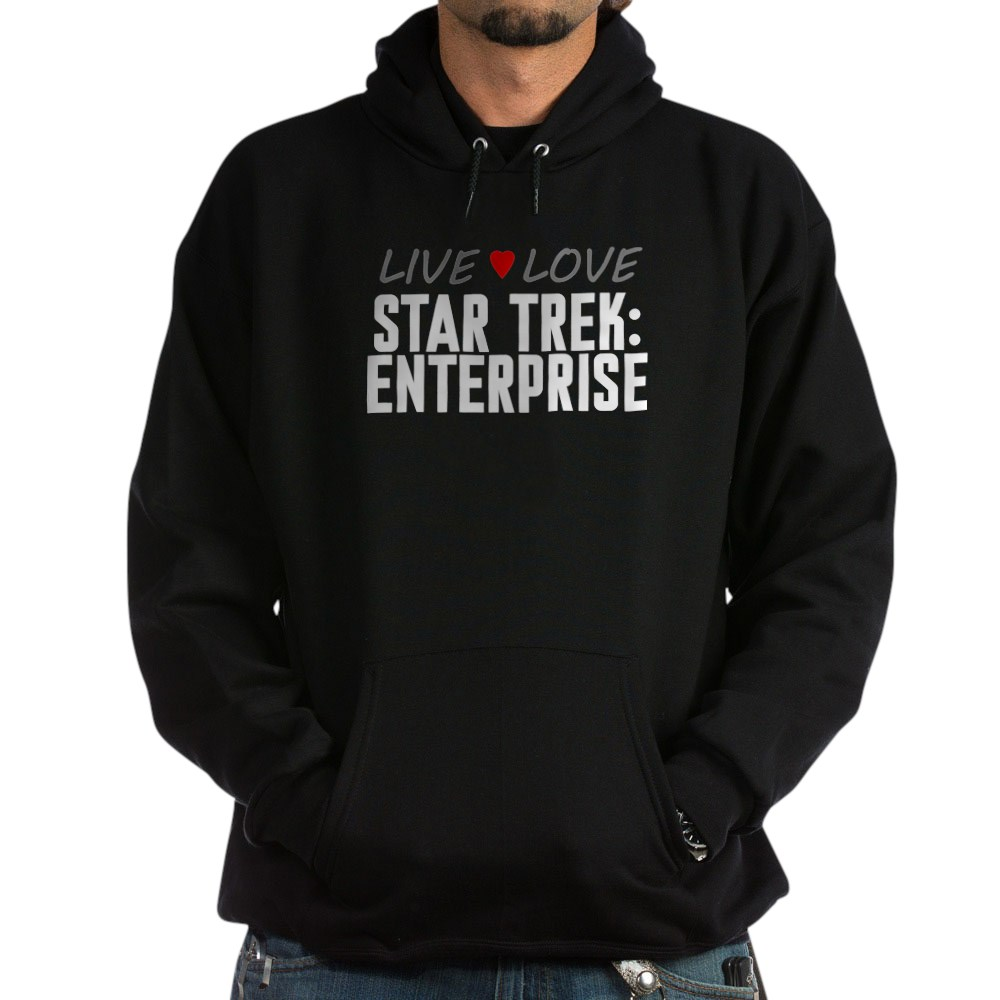 Live Love Star Trek: Enterprise Dark Hoodie