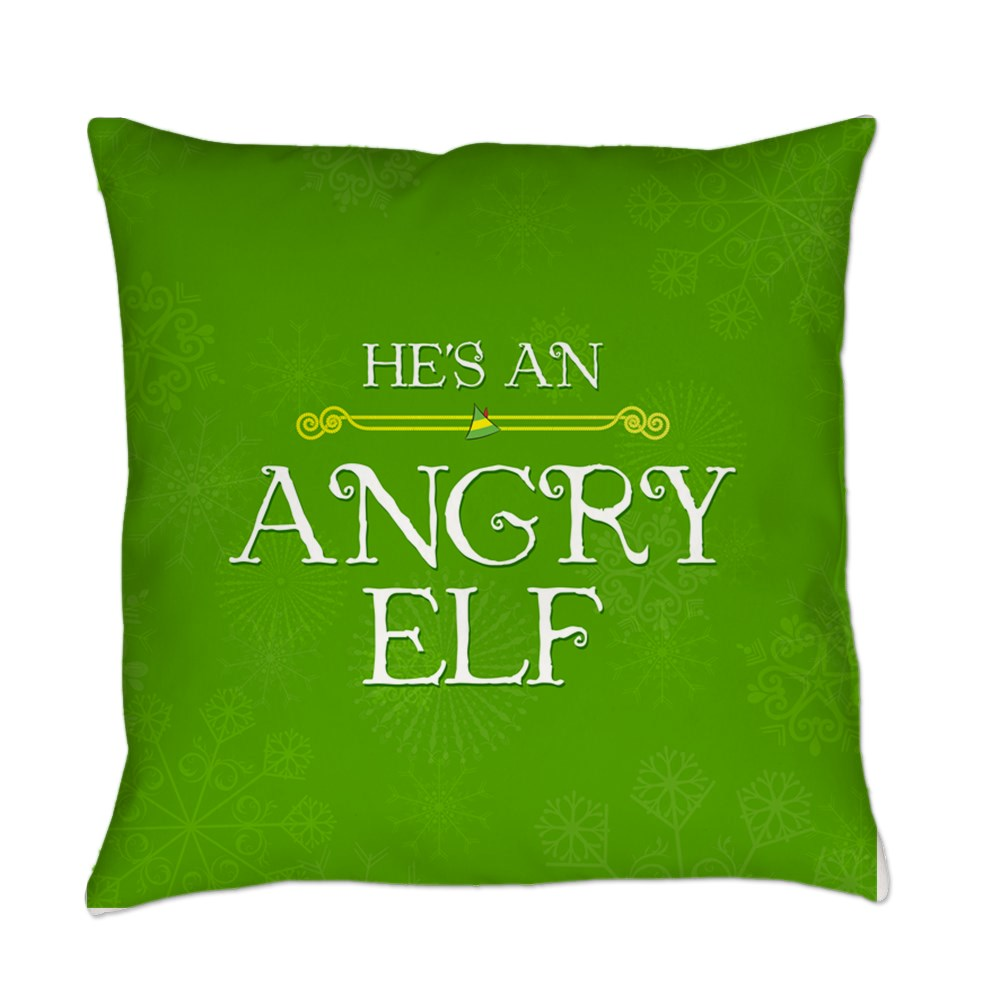 He's an Angry Elf Everyday Pillow