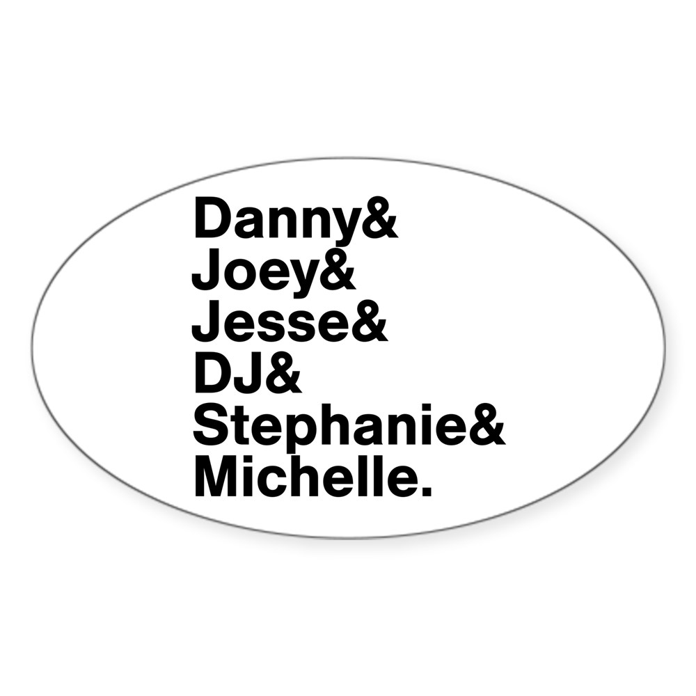 Full House Character List Oval Sticker