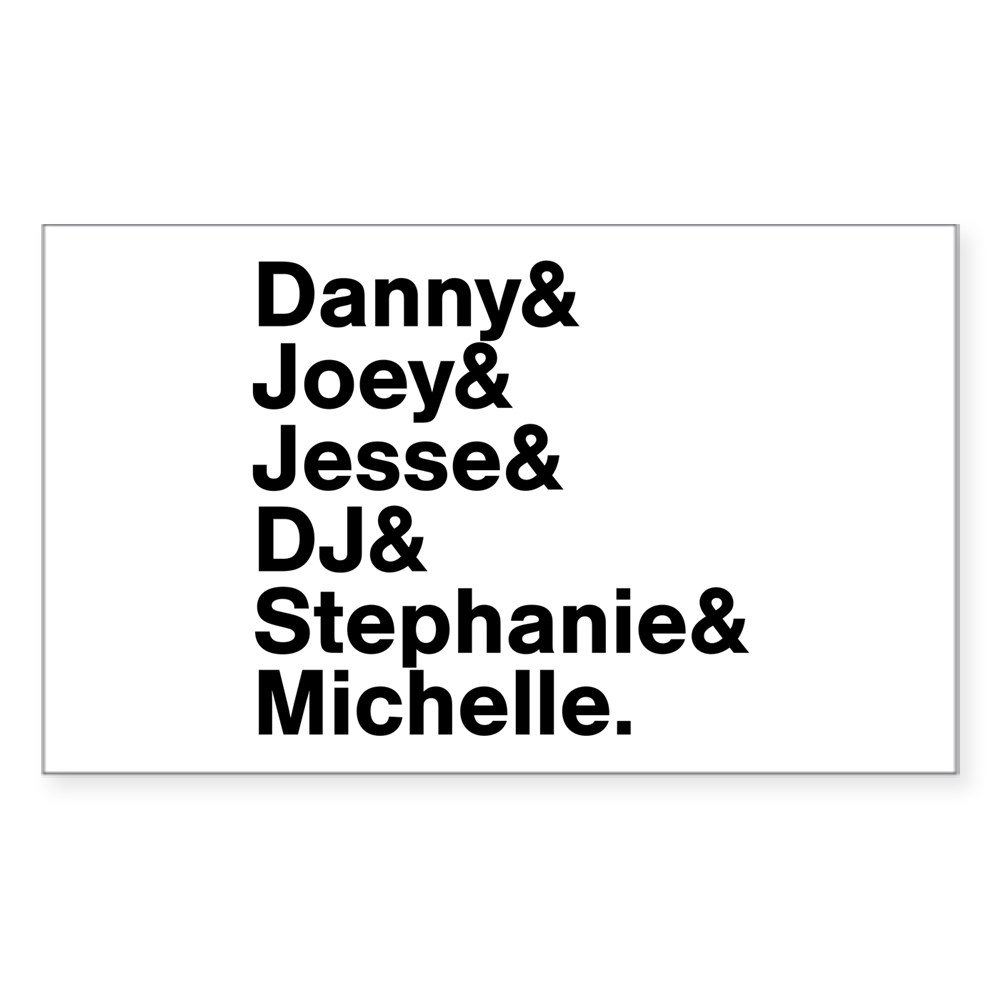 Full House Character List Rectangle Sticker