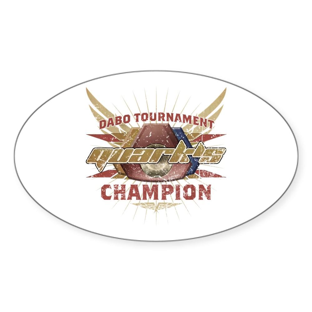 Vintage Quark's Dabo Champion Oval Sticker