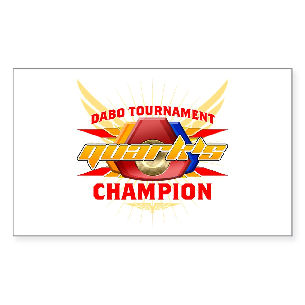 Quark's Dabo Champion Rectangle Sticker