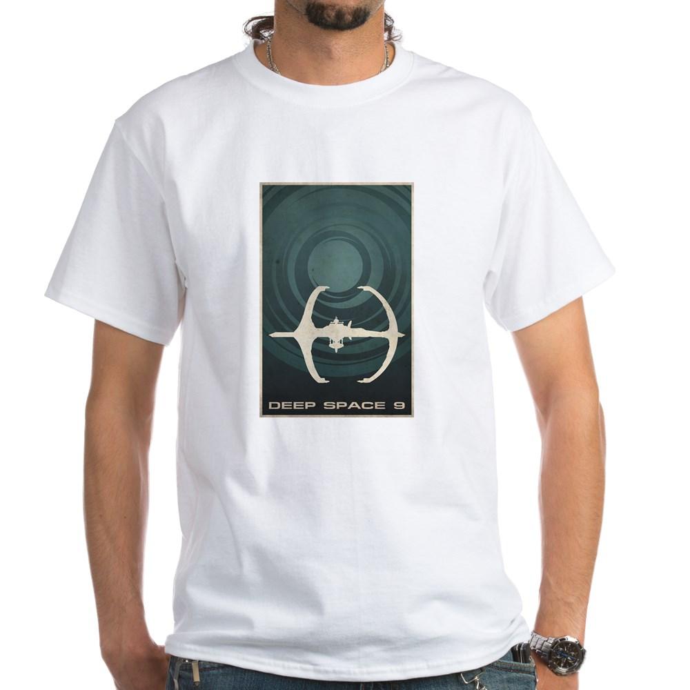 Minimal Deep Space 9 Poster Design White T-Shirt