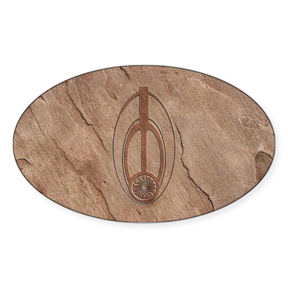 Bajoran Emblem Oval Sticker