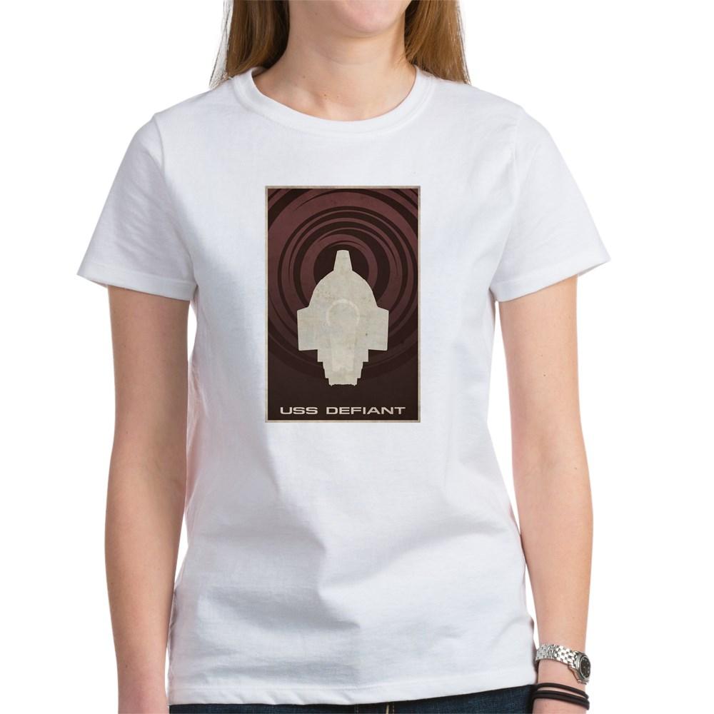 Minimal USS Defiant Poster Design Women's T-Shirt