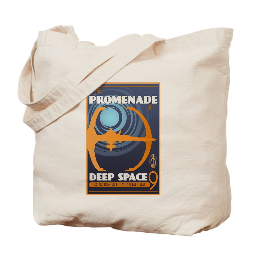 The Promenade at DS9 Vintage Travel Poster Tote Bag